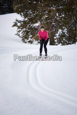 esqui cross country jovem esqui cross