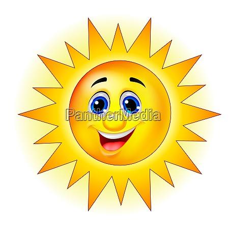 sun personagem de desenho animado