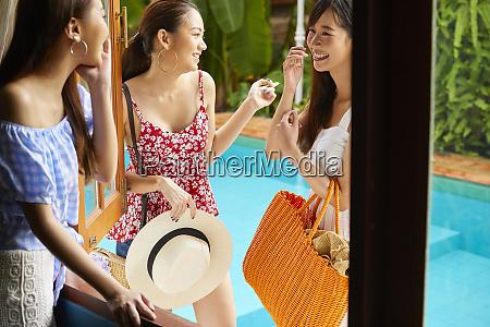 viagem de resort feminino