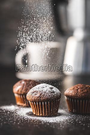 bolinhos, de, chocolate, saborosos., cupcakes, doces. - 28135255