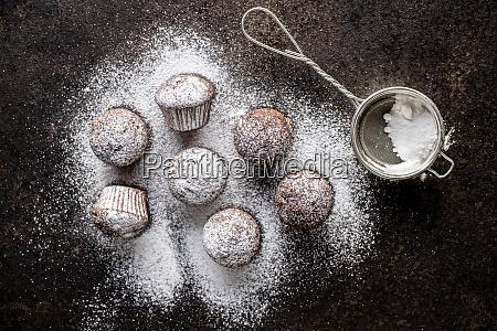 bolinhos, de, chocolate, saborosos., cupcakes, doces. - 28135257