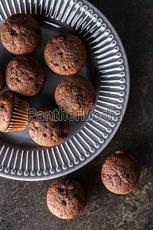bolinhos, de, chocolate, saborosos., cupcakes, doces. - 28135281