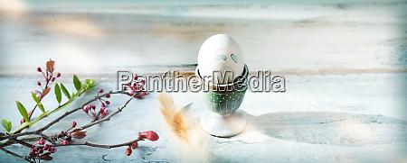 easter egg on vintage background