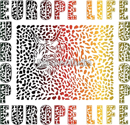 vida selvagem multicolorida na europa