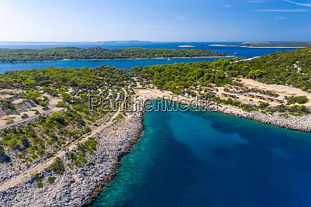 vista aerea de losinj croacia