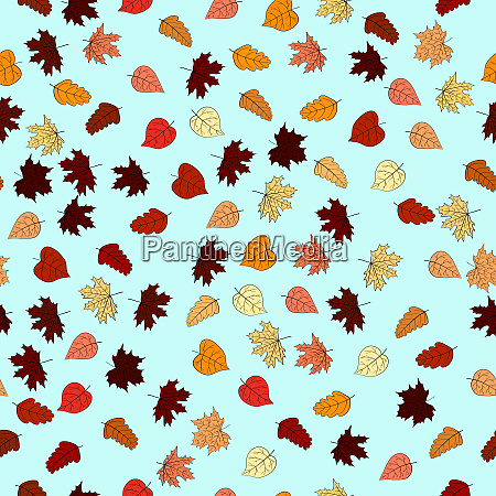 outono rabisco abstrato deixa padrao perfeito