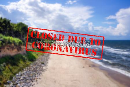 defocused view of beautiful sandy beach