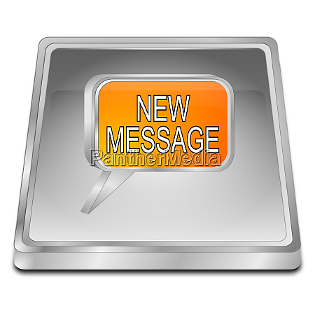 silver orange new message button