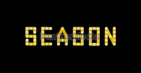 yellow neon glowing led season sign