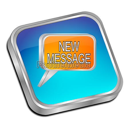 glossy blue new message button