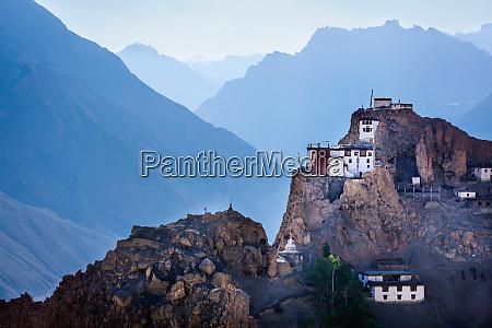 dhankar gompa spiti valley himachal pradesh