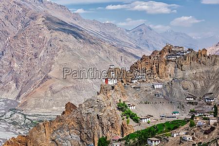 dhankar gompa buddhist monastery in