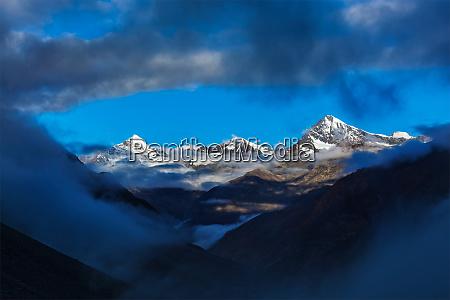 himalayas mountains on sunrise