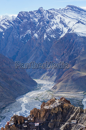 dhankar monastry perched on a cliff