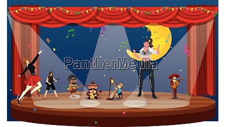 grupo dancando e curtindo em festa