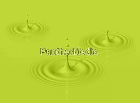 gotas verdes de leite de abacate
