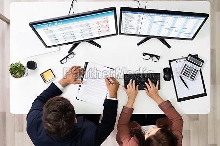 cronograma de negocios e planejador de