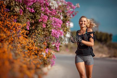 correndo ao ar livre