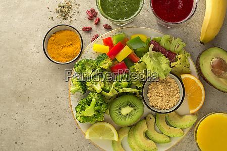 conceito de alimentos saudaveis