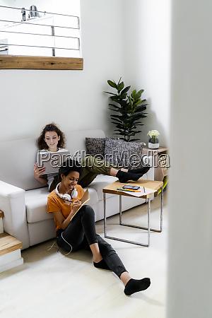 dois alunos trabalhando aprendendo em casa