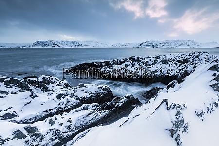 paisagem costeira no inverno berlevag noruega