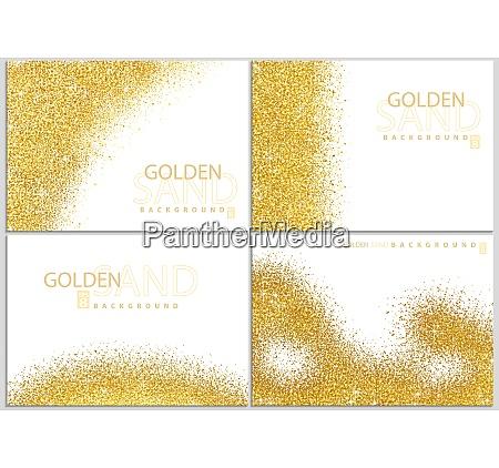 colecao de fundo de ouro em