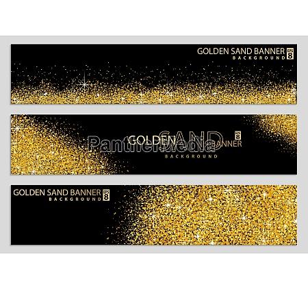colecao golden sand on black banner