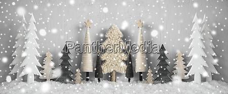 banner Arvores de natal neve fundo