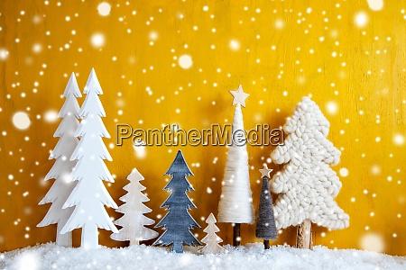 Arvores de natal flocos de neve