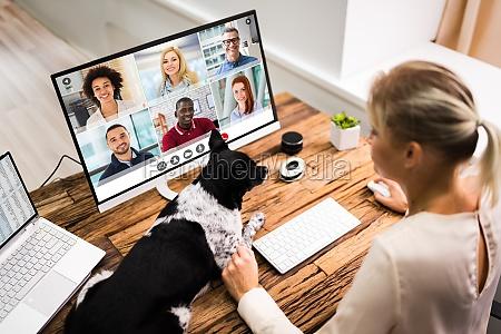 chamada de videoconferencia on line