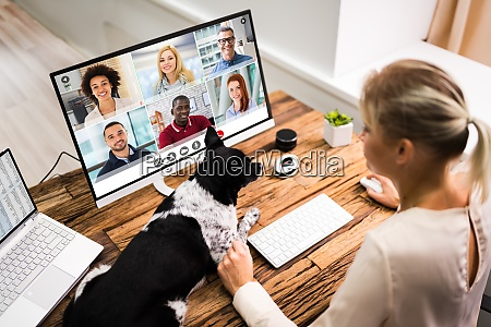 chamada, de, videoconferência, on-line - 28944695