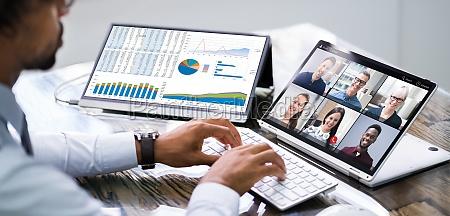 conferencia webinar video conferencia trabalho atender
