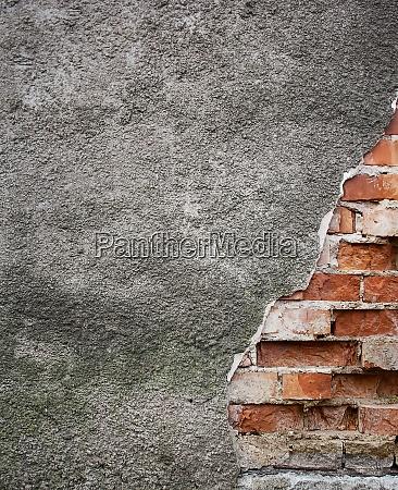 parede velha quebrada