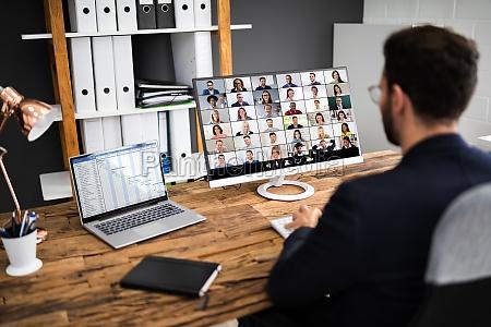 reuniao de entrevista por videoconferencia online