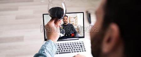 festa de beber vinho virtual online