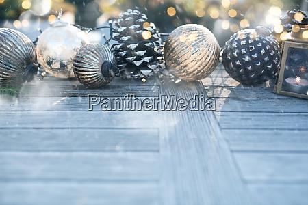 decoracao de natal no inverno em