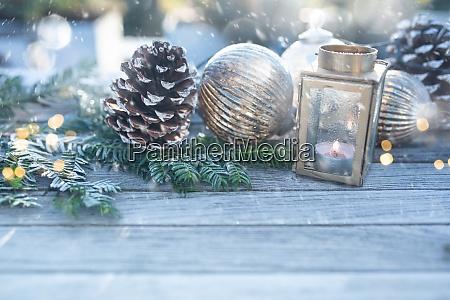 decoracao de natal com flocos de