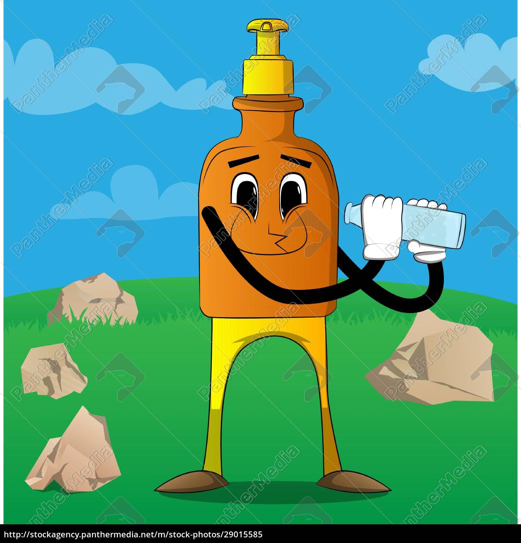 bottle, of, hand, sanitizer, gel, holding - 29015585