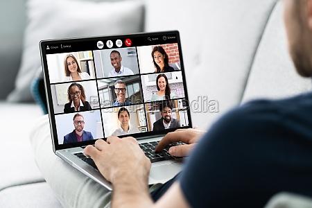chamada webinar de videoconferencia online virtual
