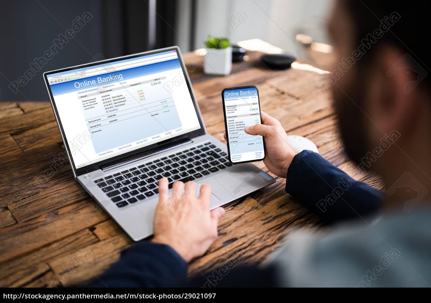 transação, de, dinheiro, bancário, on-line - 29021097