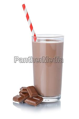 milkshake milkshake de chocolate em um