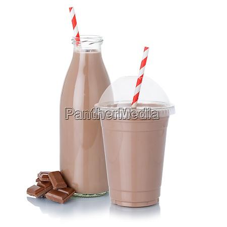 milkshake milkshake de chocolate em uma