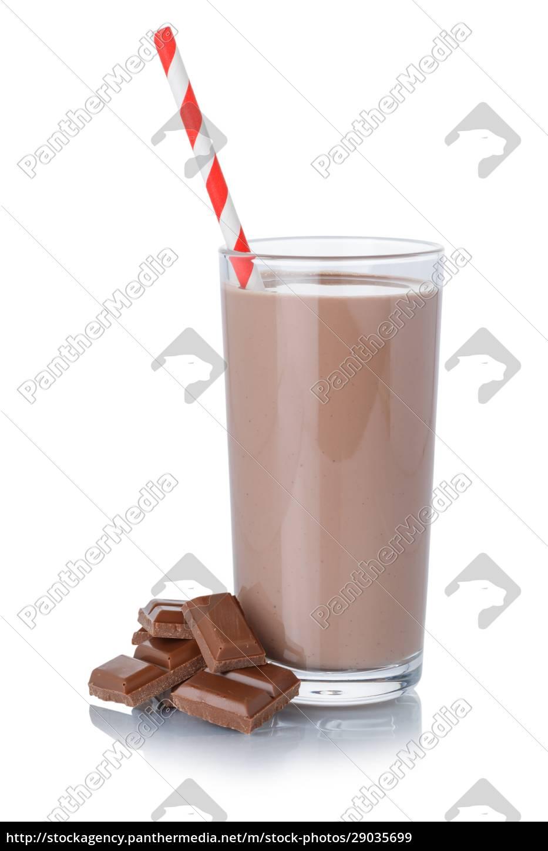 milkshake, milkshake, de, chocolate, em, um - 29035699