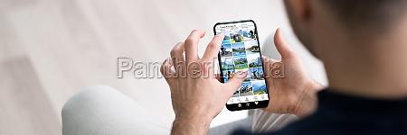 site social online no celular ou