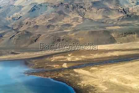 fotografia aerea de paisagem islandesa capturada