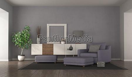 sala de estar roxa moderna