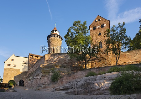 alemanha baviera franconia media nuremberg castelo