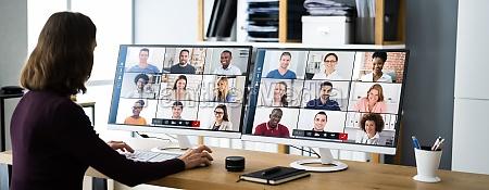 webinar de videoconferencia virtual online