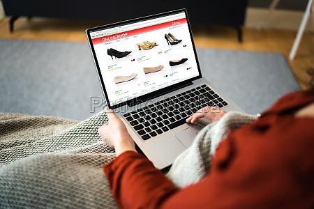 compras online de sapatos de comercio