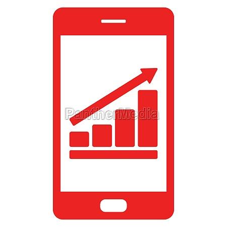 grafico de barras e smartphone